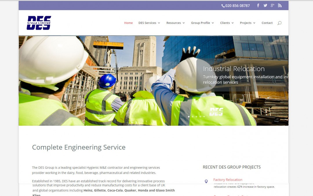 Engineering Services Website